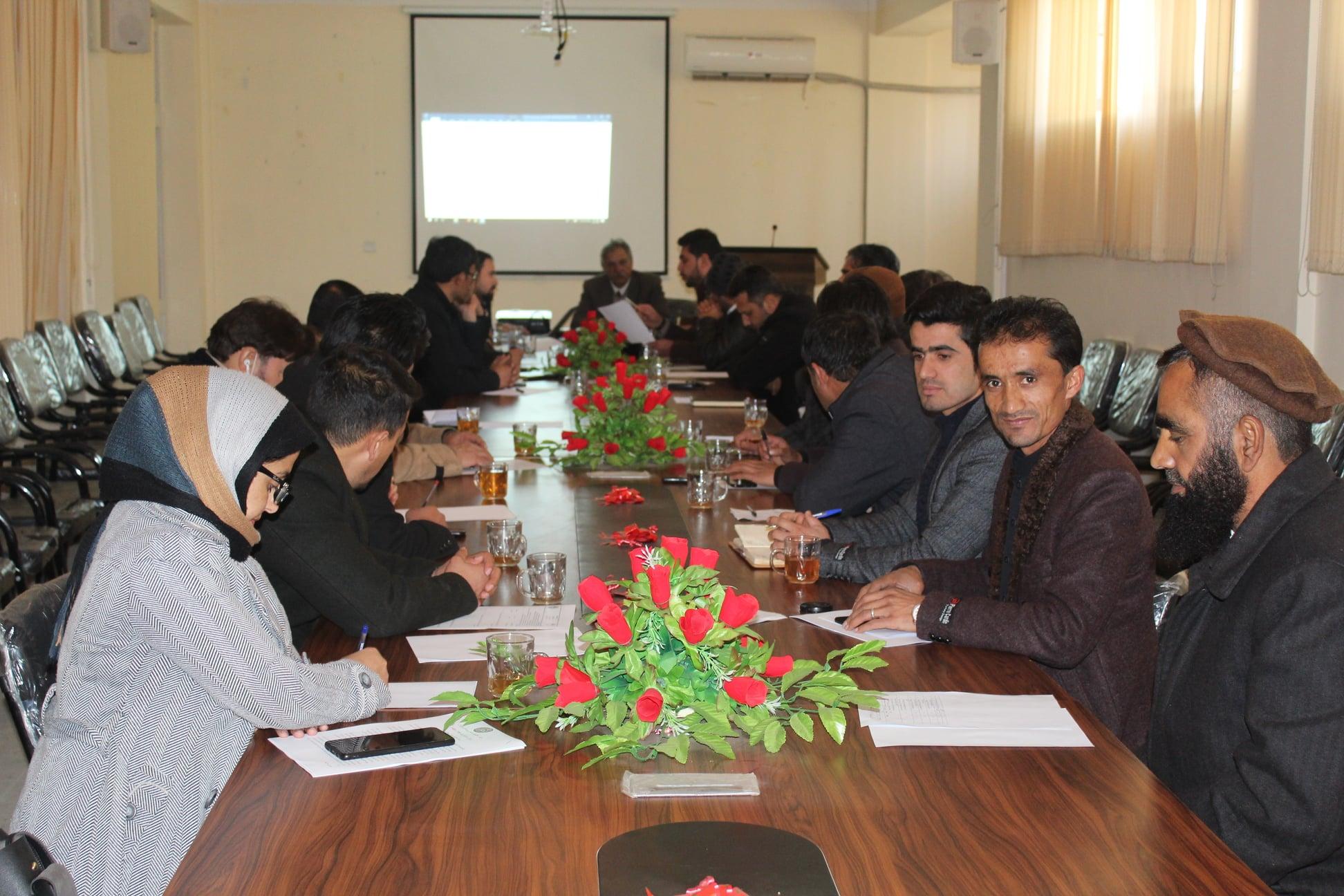 Scientific Council of Parwan University was established in 21-Dec-2020
