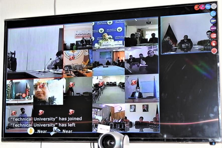 فعالیت های آمریت تکنالوژی معلوماتی دانشگاه پروان در قسمت ویدیو کانفرانس ها